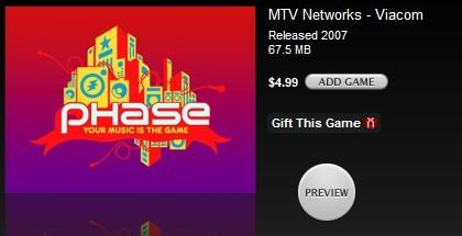 Phase, el nuevo juego de Harmonix ya está a la venta, para iPod