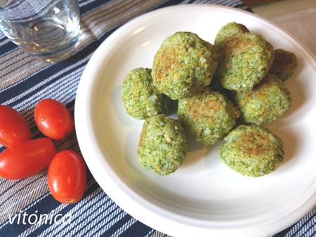 Albóndigas veganas de brócoli, garbanzos y arroz: receta saludable