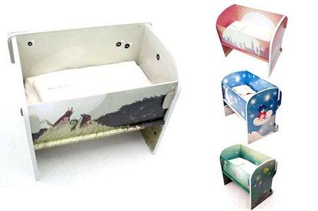 Nuevas cunas de cartón para colecho Biobé