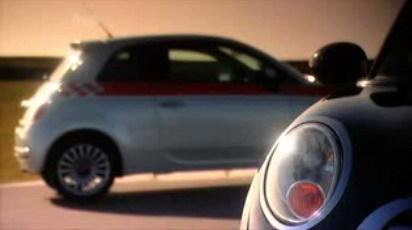 Fifth Gear enfrenta al Fiat 500 y al Mini One en un circuito