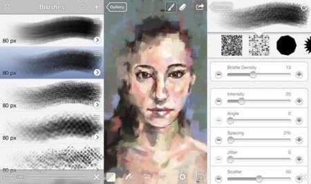 Aplicaciones de dibujo en iOS - brushes