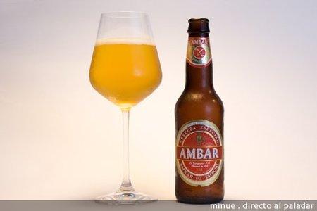 cerveza ambar sin gluten - copa