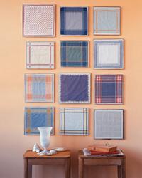 Decora tu pared con pañuelos de tela