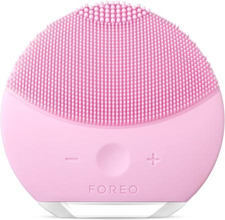 Luna Mini 2 De Foreo Es El Limpiador Facial Con Modo Anti Edad Un Cepillo Facial Sonico De Silicona Para Todo Tipo De Piel Pearl Pink Recargable A Traves Usb