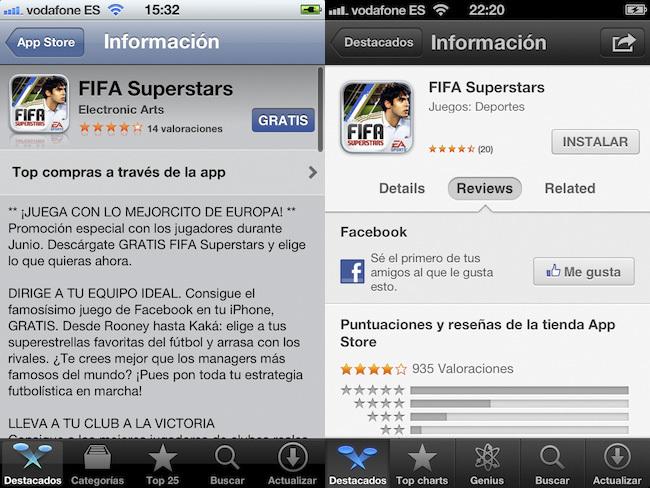 iOS 5 vs. iOS 6, App Store