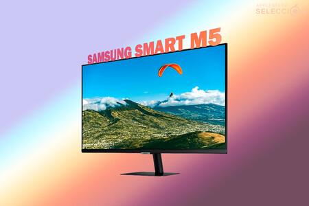 """Productividad y entrenamiento con el monitor """"inteligente"""" Samsung Smart M5 (2021) de 27"""" a 179 euros en Amazon, su mínimo"""