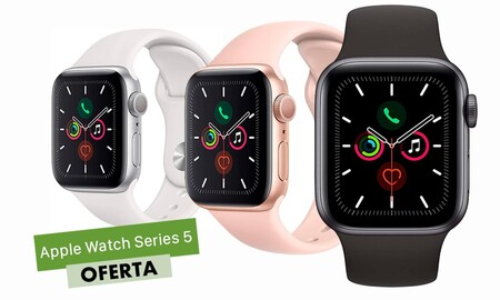 Chollazo para El Apple Watch Series 5 en El Corte Inglés: el modelo de 40mm, sólo cuesta 349 euros en cualquiera de los 3 colores disponibles