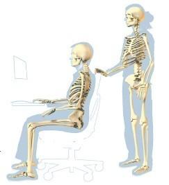 La postura para sentarse en el ordenador