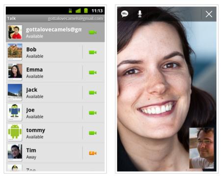 Las videollamadas llegan a Android a través de Google Talk