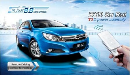 BYD Su Rui: el coche que se conduce a distancia