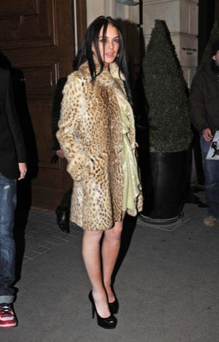 Todas las famosas y modelos en la Semana de la Moda de París, Lindsay Lohan II