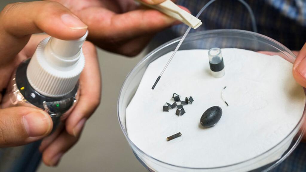 Se ha diseñado un aerosol que convierte materiales inanimados en máquinas móviles a escala de insectos