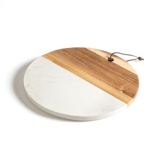 Tabla de cortar de madera y mármol