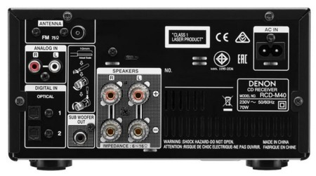 Denon Dm40 Back