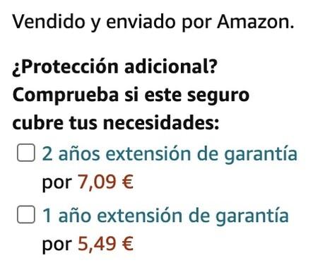 Amazon Extension Garantia
