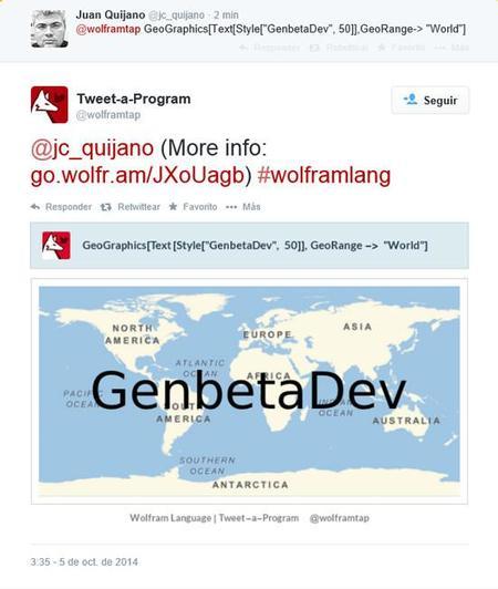 Wolfram twiter