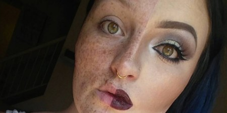 Kelsie Swygart, la chica que creó polémica con su maquillaje