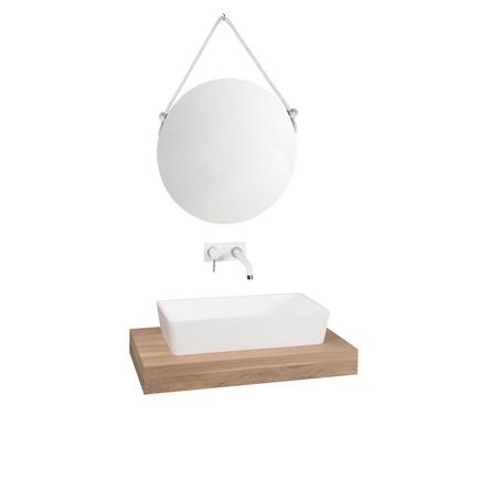 Vidaxl Lavabo De Vidrio Templado 42 Cm Transparente Lavamanos De Baño Tocador