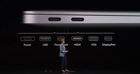 Apple Macbook Air 2018 Puertos Thunderbolt 3