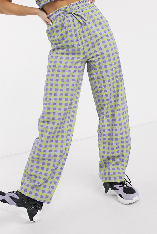 Pantalones de talle alto de Vichy de COLLUSION