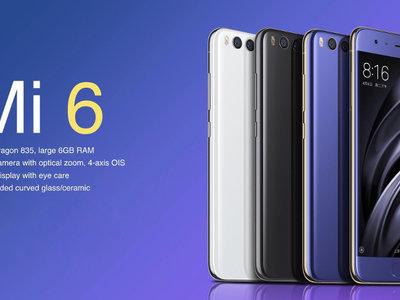 Cupón de descuento: Xiaomi Mi6 de 64GB por 329 euros y envío gratis