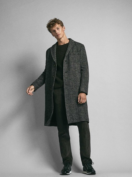 Tendencia Look Principe De Gales Prince Of Wales Check Coat For Men 1