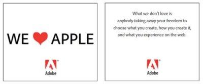 Adobe responde de forma contundente a Apple