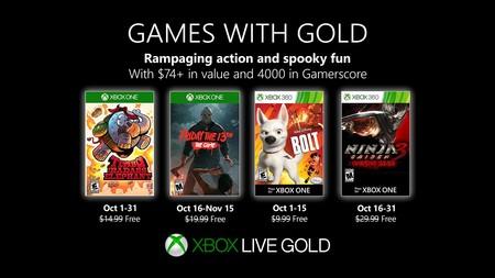 Friday the 13th: The Game y Ninja Gaiden 3: Razor's Edge entre los juegos de Games With Gold de octubre