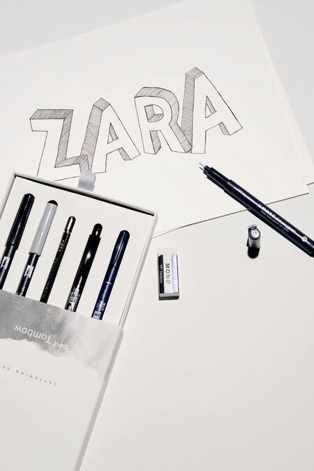 El mundo de la papelería invade la nueva colección de Zara con libretas, estilográficas y cuadernos de pintura repletos de estilo