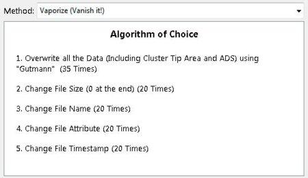 Descripción del método de eliminación segura Gutmann (Moo0 FileShredder)