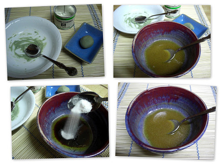 Vinagreta de wasabi. Collage