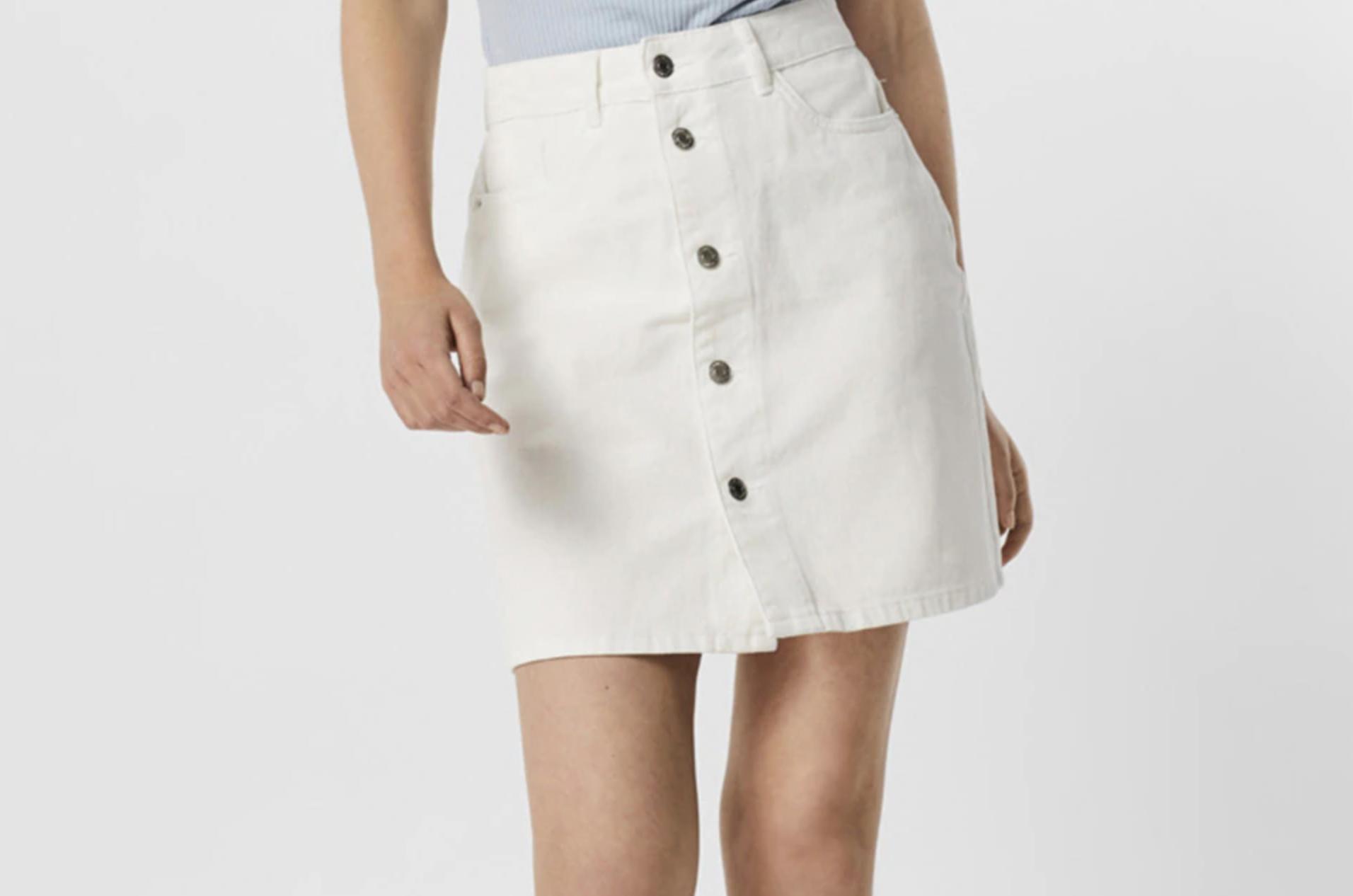 Mi falda blanca de talle alto