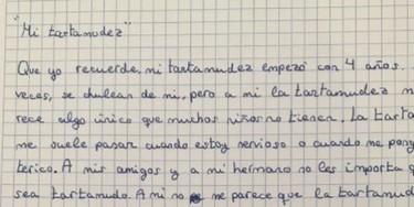 La carta de un niño de 10 años sobre su tartamudez que nos da una lección de aceptación