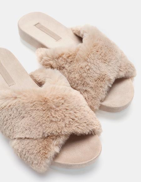 Miu Miu Shearling Ugly Sandals Fur Pelo Clon Stradivarius 2