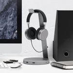 Un soporte para auriculares con hub USB 3.0 para los amantes del orden
