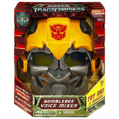 El casco con mezclador de voz de Bumblebee de Transformers