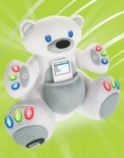 iPulse, altavoces y oso de peluche con luces para el iPod