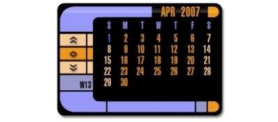 Calendario LCARS