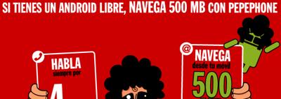 Pepephone lanza en España la primera tarifa de internet móvil especial para Android