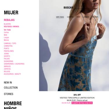 Si miras la web o app de Zara, podrás ver si los productos con los que sueñas están rebajados, cuánto y cuándo