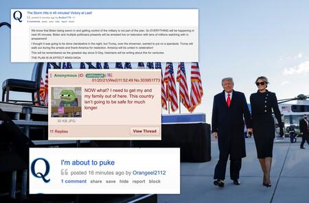 """""""Nos han vendido"""": en el adiós de Trump, las teorías de QAnon se han vuelto más dementes que nunca"""