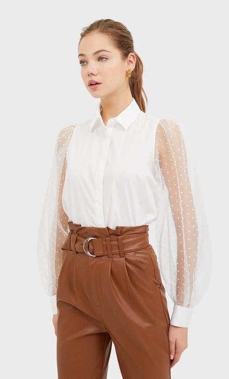 Camisa Blanca Stradivarius 11