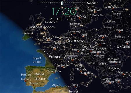 Anochecer invernal en Europa
