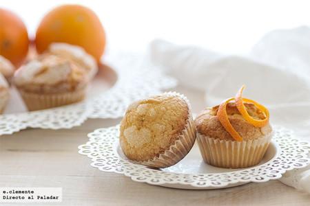 Receta de magdalenas de naranja tradicionales con el sabor de siempre