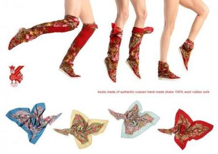 Botas Russyvalenki, originales botas foulard