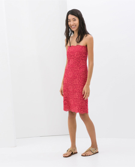 Zara guipur vestidos primavera 2014