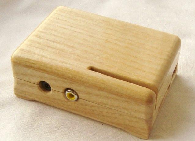 Wooden case elegante caja de madera para el raspberry pi - Hacer una caja de madera ...