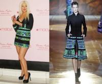 Christina Aguilera o cómo destrozar un vestido de Roberto Cavalli