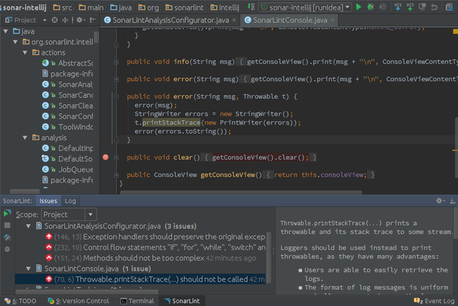 Sonarlint para IntelliJ