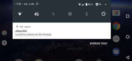 Novedad en Android O: las aplicaciones podrán descartar sus propias notificaciones
